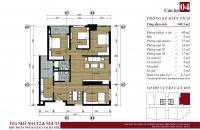 Cần bán gấp căn 05 tòa N01T3 - Ngoại Giao Đoàn, 131.4m2, view hồ điều hòa giá 30 triệu/m2