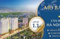 Bán căn hộ 58.1m2, hợp hướng cửa và hướng ban công Tây tứ mệnh, Hà Nội Homeland, chỉ từ 1.1 tỷ