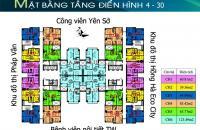 Chủ nhà cần bán CHCC  Tứ Hiệp Plaza, căn 1508 tòa B, DT 64.89m2, giá 18tr/m2: 0936071228