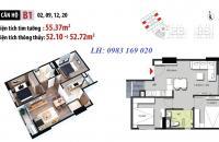 Suất ngoại giao căn 55m2, chỉ 1,1 tỷ, Hateco Xuân Phương, gần sân vận động Mỹ Đình