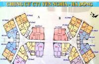 Cần tiền bán gấp căn hộ CC CT1B Yên Nghĩa, Hà Đông, DT 67,43m2 giá 12tr/m2, LH 0944891661 Mai