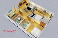 Bán căn hộ 66m2, 2PN + 2WC, ngã tư Trần Phú, Hà Đông, full NT cơ bản, đến ở quý 4/2018