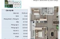 Bán căn hộ tại dự án FLC Star Tower, Hà Đông, Hà Nội, diện tích 78.83m2, giá 22.6 triệu/m2
