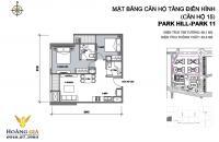 Bán căn 15 ở P11 Park Hill, 2 phòng ngủ, 2 tắm + logia, view nhìn P12, LH 01627054645