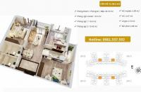 Mua chung cư trả góp căn hộ ở gần Times City, đóng 750 triệu nhận ngay nhà ở, LH: 0987418445