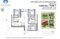 Bán căn 115m2, Park 7, 4.9 tỷ, sổ đỏ, Times City, view tháp Đồng Hồ, LH: 09017932882