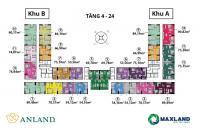 Chính chủ cần bán CH 1611 (75m2) khu A dự án Anland Nam Cường Dương Nội, giá 24tr/m2, 0961897088