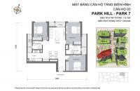 Times City cần bán căn 3 PN, DT 115m2 tòa Park 7, giá 4.9 tỷ Park Hill, liên hệ: 0901772994