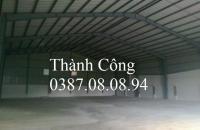 Cho thuê kho, xưởng  500m- 1000m2, MT cực rộng, xe công ra vào thoải mái ở cách cầu Đuống 1km