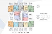 Bán gấp căn hộ căn góc 12, tòa K3 The K Park, 93 m2, 3 PN, 2 WC, hướng mát view đẹp + nội thất