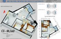 Chính chủ cần bán gấp căn góc 60.1m2 ban công Đông Nam dự án CT1 Yên Nghĩa giá gốc chỉ 10.9tr/m2