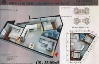 Quá hót!  chỉ cần 600tr sở hữu ngay căn hộ 2 phòng ngủ 55.96m2 dự án CT1 Yên Nghĩa