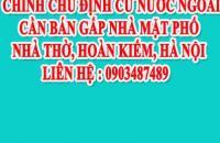 Chính chủ định cư nước ngoài cần bán gấp nhà mặt phố Nhà Thờ, Hoàn Kiếm, Hà Nội