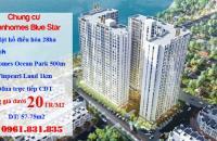 Mở bán chung cư cạnh Vinhomes Ocean Park 57-75m2 giá từ 1 tỷ/căn LH 0961831835
