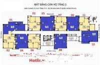 Chính chủ căn hộ 1011 chung cư C13Bùi Xương Trạch, DT 62,75m2 bán 22.8tr/m2:0961637026