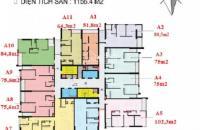 Bán gấp căn hộ chung cư 110 Cầu Giấy tầng 1506, DT 77m2 giá bán 36tr/m2: 0981129026
