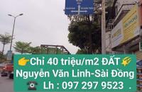 👉Bán 80 m2 Đất đường Nguyễn Văn Linh-Sài Đồng-Long Biên chỉ 3.35 tỷ.