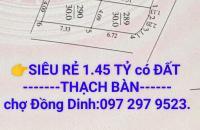 👉[ Chỉ 1.45 Tỷ ]có Đất Thạch Bàn Lô Góc ( gần chợ Đồng Ding)